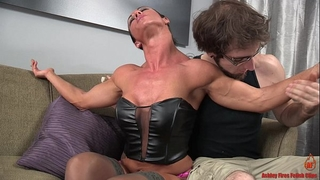 Sexy pumped up black cock sluts and the slim fellow