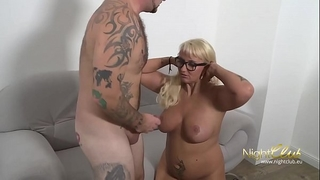 German tattoo milf screwed and cum on glasses