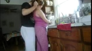 Fucking white wife in kitchen
