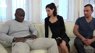 Cuckold training Married slut bonks dark stud in front of spouse and muff licked