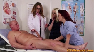 Femdom cfnm doctor engulfing patients bigcock