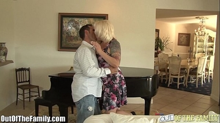 Milf rides son-in-laws shlong with butt