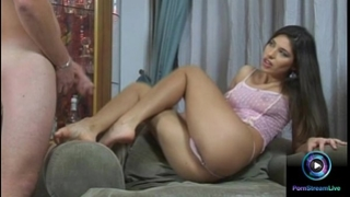 Watch the sweet brunette hair zafira hot feet in footjob act