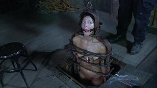 Strappado, claustrophobia and agonorgasmos predicament for captive BBC slut