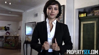 Propertysex - cute real estate agent makes impure pov sex episode with client