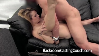 Cheater fucked right into an asshole and creampie on casting bed