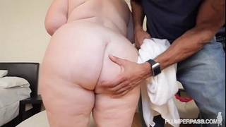 Mature breasty bbw white wife lynn dresses up for and copulates bbc