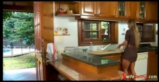 Spanish slutty wife copulates in the kitchen xvideoscom
