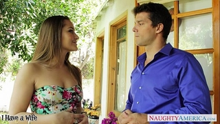 Beautiful Married slut dani daniels engulf shlong outdoors