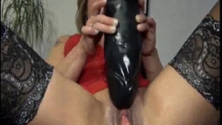 Gigantic sex toy fuck and squirting fisting orgasms