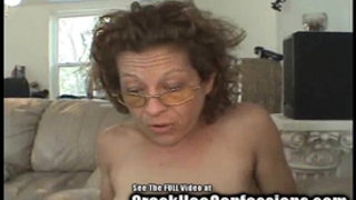 Skinny granny crack wench sucks my balls