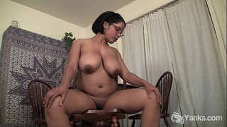 Busty corpulent natalia rubbing her bawdy cleft
