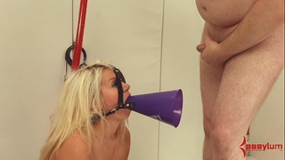 Big booty cheerleader receives hard anal, atm, and humiliation