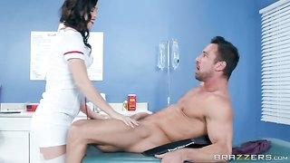 Cock hungry nurse gives her patient some special treatment