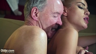 Old chap dominated by hawt hawt hottie in old juvenile femdom hardcore fucking