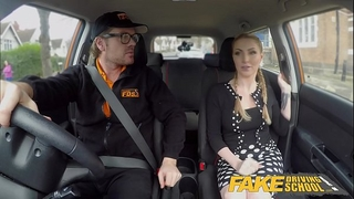 Fake driving school breasty blond georgie lyall receives customer gratification
