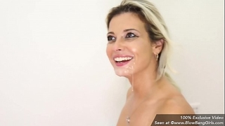 Hot milf alana luv engulfing off multiple cocks