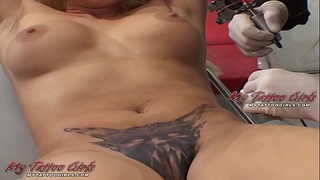 Alira astro bawdy cleft tattoo