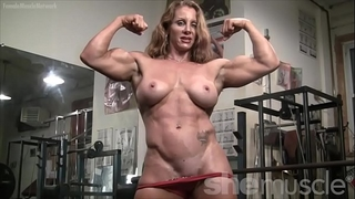 Naked female bodybuilder hot red headed muscle