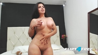 Beautiful sarah harper discloses her large scones and booty with striptease