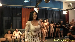 Busty ashley cum in real group-sex